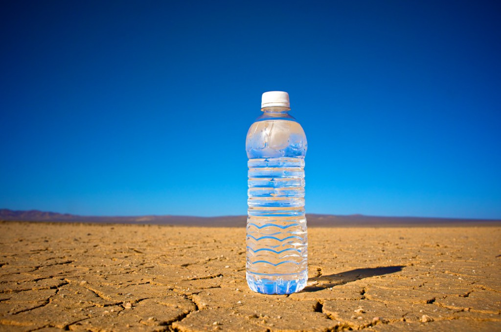 Bottled water in the desert