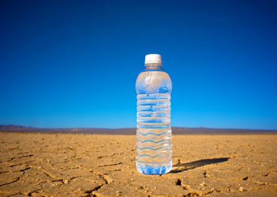 Bottled water in the desert